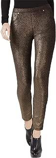 Womens Petites Foil Cord Metallic Leggings