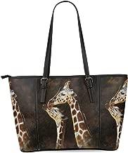 InterestPrint Custom Unique Women's Leather Tote Shoulder Bags Handbags