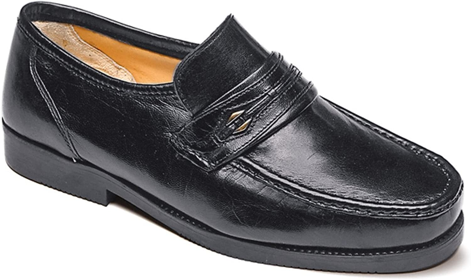 Mens Wide Fit Leather Slip On shoes