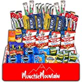 Munchie Mountain 40-Count Movie Night Gift Basket for Family and Kids