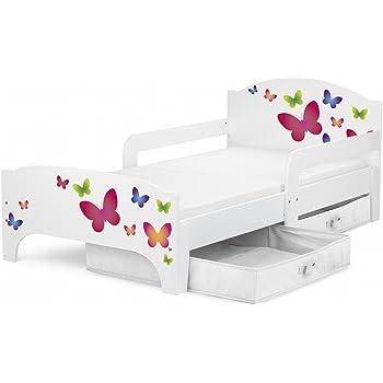 Leomark Moderne Smart Lit D Enfant Toddler 140x70 Motif Papillons