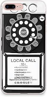 CasesByLorraine iPhone 8 Plus Case, iPhone 7 Plus Case, Retro Payphone Vintage Flexible TPU Soft Gel Protective Cover for Apple iPhone 7 Plus & iPhone 8 Plus (A22)