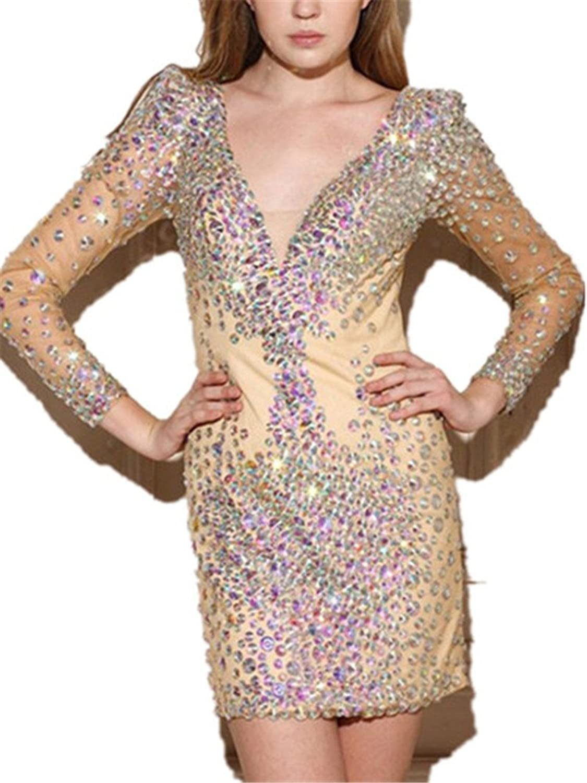 Tsbridal Beaded Mermaid Prom Dresses 2019 Sleeveless Evening Formal Party Dress