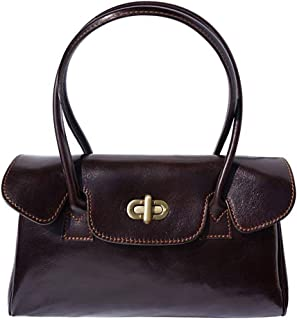 FLORENCE LEATHER MARKET Borsa Marrone scuro in pelle donna 35x14x23 cm - Lady - Made in Italy