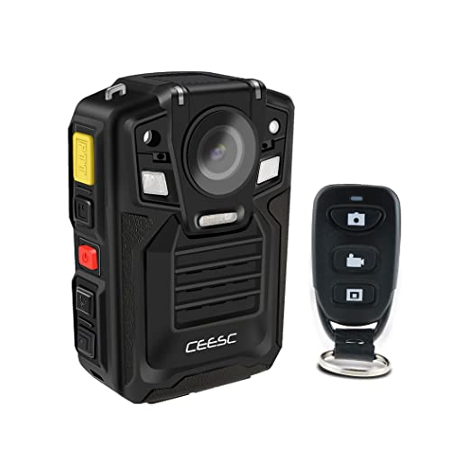 CEESC Police Security Body Worn Camera WV8 Portable Compact IR Night Vision with Remote Controller and Rechargeable Battery (Internal 32GB)