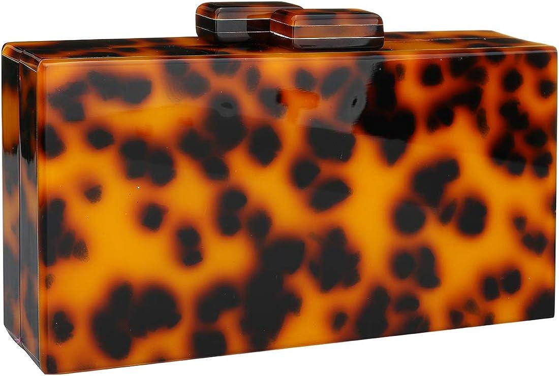 EROGE Easy-to-use Acrylic Clutch Purse Perspex Colorful Geometric Box sale Design