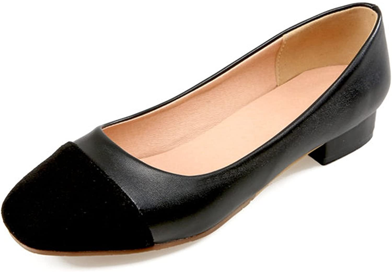 DoraTasia Concise Shallow Square Toe Slip on Women's Flat shoes