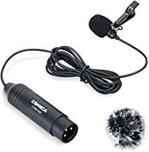 COMICA CVM-V02O XLR Lapel Lavalier Microphone Omnidirectional Interview Microphone for Canon Sony Nikon Panasonic Camcorders ZOOM H4n TASCAM Audio Recorders SmartMixer 1 pack 14 7ft