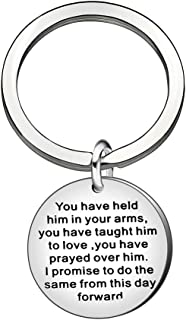 Mother in Law Gifts, Wedding Gifts Christmas Thanksgiving Keychain Key Chain Ring for Mother in Law