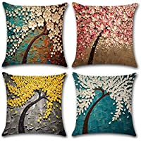 4-Pack 9ABoy Decorative Throw Pillow Covers