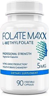 FolateMaxx L-Methylfolate 5 mg (90 Capsules)] Professional Top Quality Active Folate ] Non-GMO, Gluten Free ] Methyl Folat...
