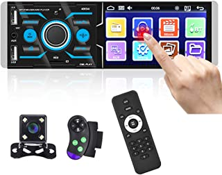 """$49 » Hikity Car Stereo Single Din Touch Screen Radio 4"""" Multimedia Player LCD Bluetooth Audio System FM Receiver, Support Hands..."""