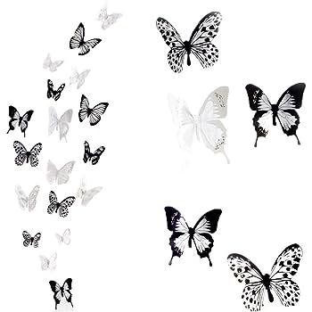 Haimoburg 36er Set 3d Schmetterling Aufkleber Wandsticker Wandtattoo Wanddeko Fur Wohnung Raumdekoration 36pc A Amazon De Kuche Haushalt