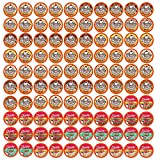 Two Rivers Coffee Ice Cream Flavored Coffee Pods, Variety Sampler Pack for Keurig 2.0 K Cup Brewers, 100 Count