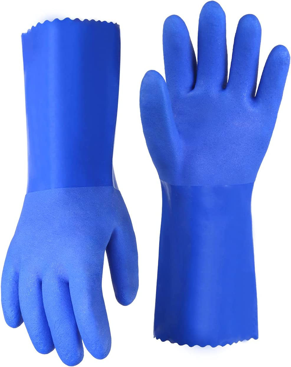 Chemical Resistant Gloves In a popularity PVC Oil Regular store Work Coated G