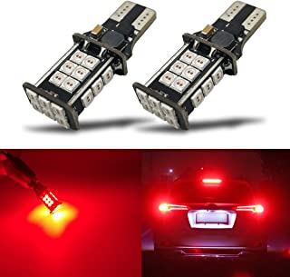 iBrightstar Newest Extremely Bright 3030 Chipsets T15 912 W16W 921 LED Bulbs Error Free For Truck Cargo Lights, High Mount / 3rd Brake Lights, Brilliant Red