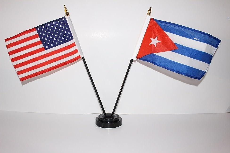 US USA American and Cuba Cuban Frienship 4