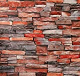 "Stone Brick Peel and Stick Wallpaper - Brick Stone Wallpaper - 3D Faux Adhesive Wallpaper Faux Textured Brick Stone Look – Removable Wall Paper, or Shelf Paper - 17.71"" Wide x 118"" Long"