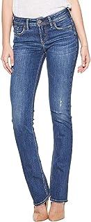Silver Jeans Co. Women's Elyse Curvy Mid Rise Slim Fit Bootcut Jean