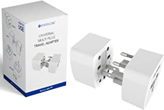 Everycom Universal Travel Adapter Plug Converter Wall Adapter for 150 Countries- White