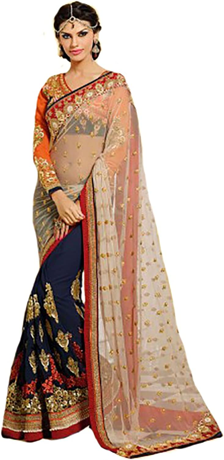 Bridal Party wear Saree Sari Ceremony Collection Gown Blouse Petticoat