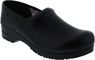 Sanita Women's Professional PU Leather Clogs