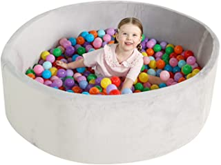 TRENDBOX 47IN Memory Foam Ball Pit for Baby Toddler Soft Round Ball Pool
