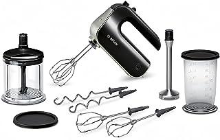 Bosch 博世MFQ4885DE 手持式料理机套装575 W,不锈钢搅拌脚,XL多用途切碎附件, 搅拌杯,黑色/镀铬