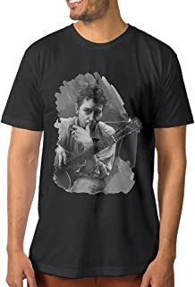 Bob Ross Galaxy Painting Graphic T-Shirt - Black