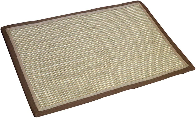 JIAJUAN Natural Sisal Entrance Doormat Non Slip Backing Dirt Trapper Front Door Mat Indoor Outdoor Washable (color   C, Size   50X120cm)