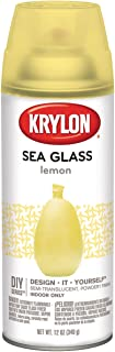 Krylon Sea Glass Aerosol Spray 12oz Lemon,Lemon,1-Pack