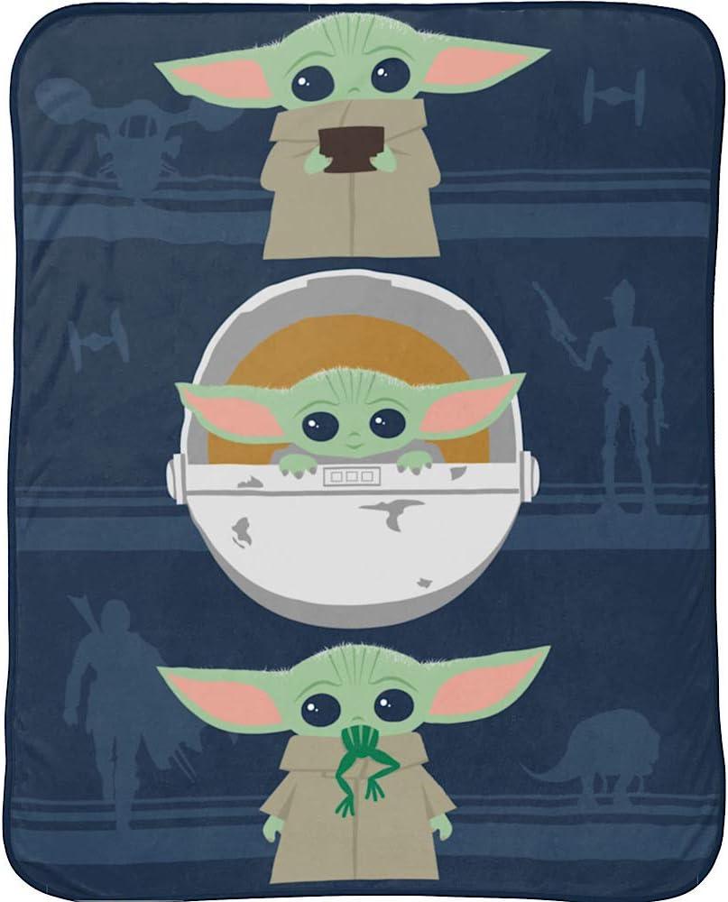 Max 53% OFF Baby Yoda Kids Plush Throw Miami Mall x Blanket 60 46