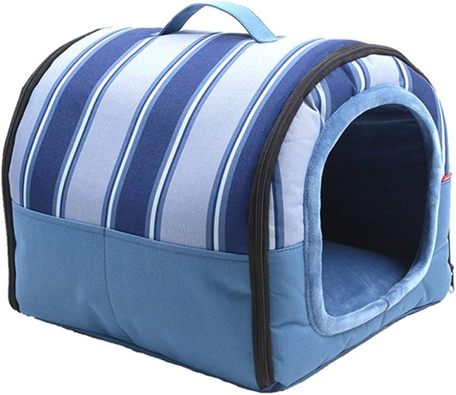 Portable collapsible kennel waterproof small and medium dog house, Oxford cloth pet nest, four seasons removable and washable (Size   S)