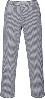 Barnet Chef Trousers Pants Half Elastic Waist 100% Cotton Food Catering Workwear