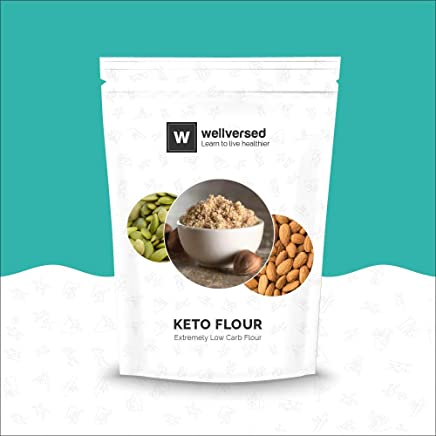 Wellversed Keto Flour With Extremely Low Carb, High Fibre and Healthy Fats (1Kg)