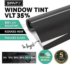 GIANTZ Window Tint Film Black Commercial Car Truck Auto House Glass 76cm X 7m VLT 35%