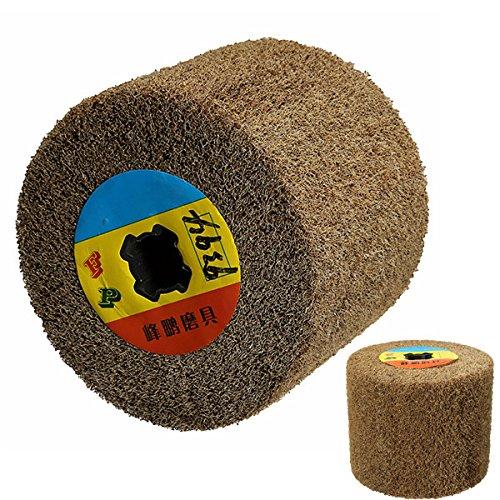 HELEISH 120x100mm 240# polierendes Polierscheiben-Nylonrad für Poliermaschine/Poliermittel/Sandpapierschleifmaschine Zubehörwerkzeug