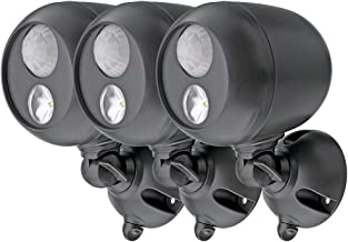Mr. Beams MB363 Wireless LED Spotlight with Motion Sensor and Photocell, Dark Brown, 3-Pack