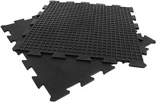"Rubber-Cal ""Armor Lock Interlocking Rubber Mat - 3/8-inch x 2ft x 2ft - Black"