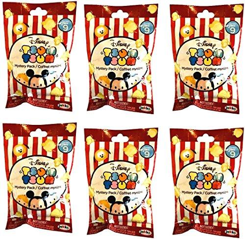 Disney Tsum Tsum Series 9 LOT of 6 Mystery Stack Packs
