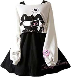 Cute Dress for Teens Girl Two Piece Set Bunny Prints...