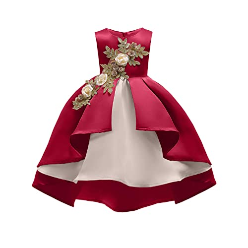 b0c67e35522 AIMJCHLD 2-9 Years Flower Girls Dress Wedding Bridesmaid Formal Midi Dresses