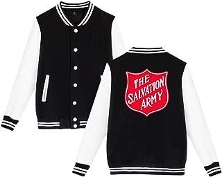 Mens Womens Unsiex Baseball The Salvation Army Sweater Long Sleeve Jumper Sweat Baseball Jacket for Men Women