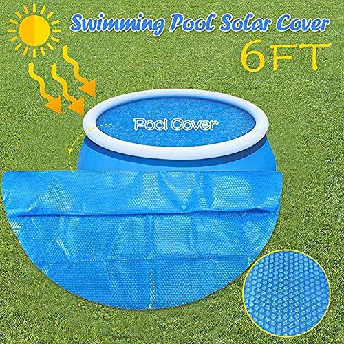 LRDOGGY Runder Pool Solarabdeckungsschutz , 5/6 / 8ft Fuß über dem Boden Blauer Schutz Schwimmbad Endothermer Schutz Wärmedecke Solarabdeckung für Schwimmbad (8)