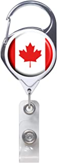 Officially Needed-Canada Country ID Badge Holder, White Retractable Carabiner Clip | Great Office Supplies or Holding Keys | Gifts for Women, Teachers, Nurses, Professionals, Government, New Hires