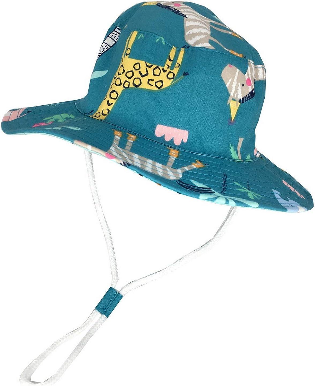 Baby Kids Cartoon Summer Sun Hat Wide Brim UV Protection Beach Bucket Hat