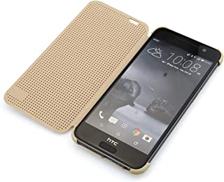 Dot View Flip Case for HTC One A9 - Gold