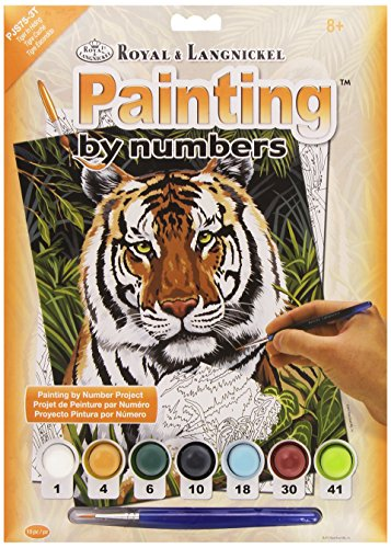 Royal & Langnickel - PJS75 - Blanc Tiger Pair Design Paint by Numbers Kit