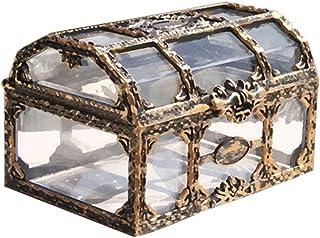 comprar comparacion Toyvian Cofre del Tesoro Caja de Joyas de Recuerdo de Pirata Transparente Vintage Caja Decorativa de Metal para niños Favo...