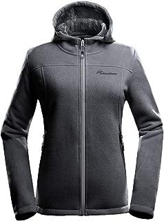 Women's Fleece Jacket - Waterproof & Stain Repellent, Ultra Soft Plush Lining & Optional Hoodie - Full-Zip